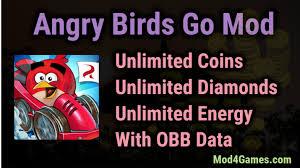 angry birds go mod apk angry birds go apk mod unlimited coins diamonds energy obb