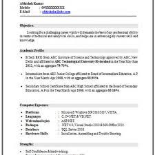 resume format for engineering freshers pdf merge and split basic resume format for electronics engineering student resume for study