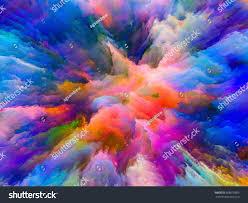 color splash series composition fractal paint stock illustration