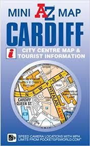 map az cardiff mini map a z mini map amazon co uk geographers a z map