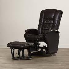 rocker recliner with ottoman small leather rocker recliner wayfair