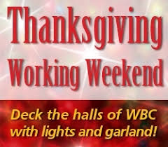 thanksgiving working weekend conference centers and cs warm