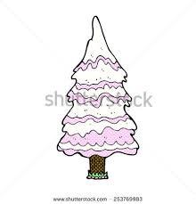 christmas tree snow cartoon stock vector 71351290 shutterstock