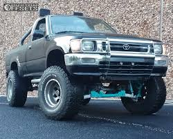 classic toyota truck 1992 toyota pickup american racing baja rancho suspension lift 45in