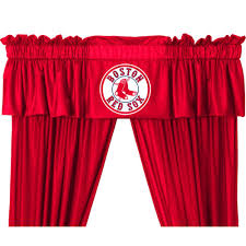 Boston Red Sox Home Decor by Amazon Com Boston Red Sox Logo Jersey Material Valance Home