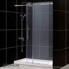 sliding glass shower door parts bathroom frameless sliding shower doors lowes shower glass door