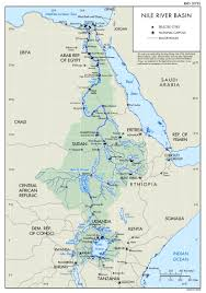 nile river on map nile river basin map