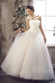 one shoulder wedding dresses gown one shoulder floor length tulle wedding dress cwlf13012
