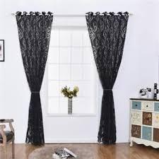voilage fenetre chambre rideau voilage fenêtre floral décoration pour chambre salon noir 100