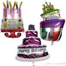 birthday helium balloons 3 design birthday cake shape foil balloons helium