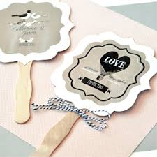 vintage wedding favors personalized vintage wedding paddle fans palm and bamboo