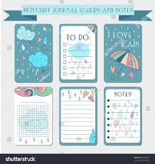 printable notes journal cards labels memo stock vector 309780191