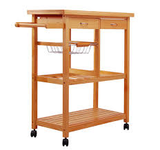 Kitchen Cart With Storage by Large Kitchen Cart With Rubberwood Top Multiple Finishes