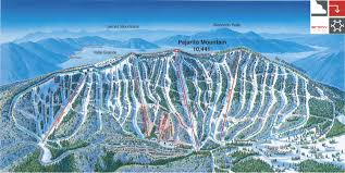 Colorado Ski Areas Map by Pajarito Mountain Ski Area Piste Map Trail Map