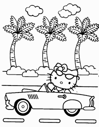 perfect hello kitty summer page about hello kitty coloring pages