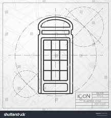 vector blueprint telephone box icon on stock vector 337567304