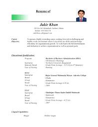 Sample Resume For Lecturer by Jakir Khan Cv