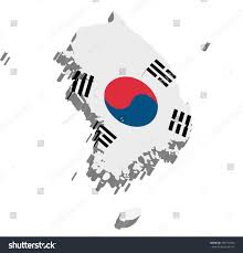 Map Of South Korea Map South Korea 3d On White Stock Illustration 430779436