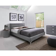 chambre adulte fly factory lit adulte design gris 140x200 cm avec mezzanine but