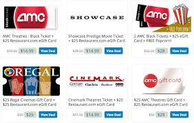 amc theaters gift card 2 amc theatres black tickets 25 restaurant egift card