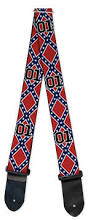 Confederate Flag Jewelry Guitar Strap Confederate Flag 01 Cooters