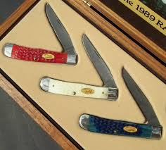 Case Xx Kitchen Knives Xx 1989 Rainbow Damascus Set All Original Display Box Graphics