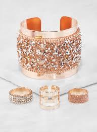 rhinestone cuff bracelet images Rhinestone encrusted cuff bracelet and ring trio rainbow jpg