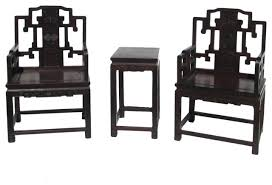 chinese red rosewood carved armchair set asian living room