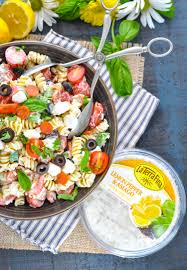 Pasta Recipes by Creamy Italian Pasta Salad The Seasoned Mom