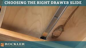 drawer slide tutorial choosing the right drawer slide youtube