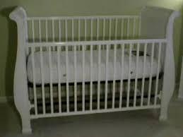 Sleigh Bed Crib Gorgeous Simmons Venetian Sleigh Crib In White With Mattress Youtube