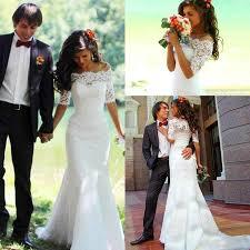 abaya wedding dress mermaid lace wedding dresses bateau sheer vestidos