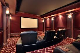Home Theater Design Lighting 50 Home Theater And Media Room Ideas Black Leather Chair