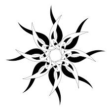black white tribal sun design pinteres