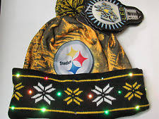 Knit Cap With Led Light Forever Collectibles Nfl Pittsburgh Steelers Light Up Knit Hat Ebay