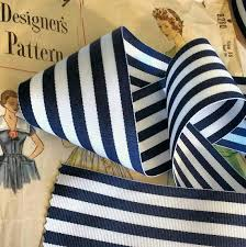 navy and white striped ribbon navy blue and white striped ribbon by the roll striped nautical