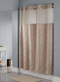 Hookless Shower Curtain Hookless皰 Tree Branch Taupe Shower Curtain 100 Polyester Shower