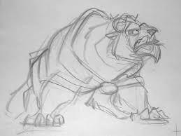 beast looks like a snarling puppy glen keane disney pinterest