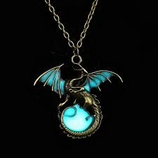 glow in the necklaces retro glow in the necklace pendant silver chain jewelry