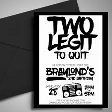 printable two legit to quit birthday invitation 2nd birthday
