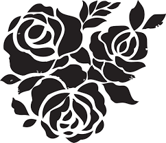 coloring pages of roses and flowers rose flower stencils printable for decoration activity shelter