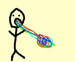 Throwing Up Rainbows Meme - rainbow meme saying idk