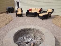 Paver Patios With Fire Pit by Paver Patio Fire Pit And Seating Wall In Tega Cay At Lake Ridge