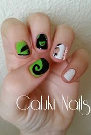 caluki nails nail art musical wicked concurso wicked fullmoon