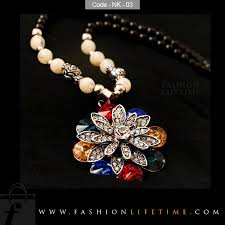 long flower necklace images Crystal flower long necklace snowflake for women fashion lifetime jpg