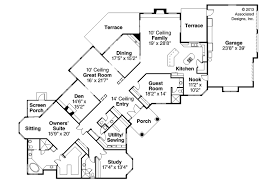 Mediterranean Floor Plans Mediterranean House Plans Braxton 11 040 Associated Designs