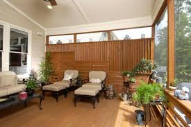 screened porch with custom privacy screen
