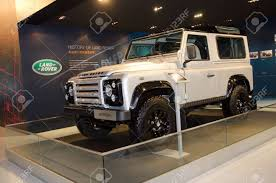 land rover defender vector guangzhou china nov 26 range rover defender car on display