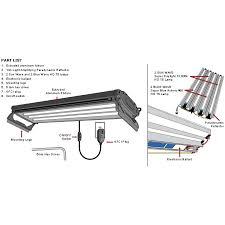 fluorescent lighting fluorescent light fixture parts diagram