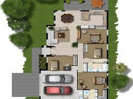 architecture 3d small building plan design with two bedroom